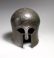 Bronze helmet of the Corinthian type MET DP21092.jpg