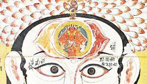 Ajna - Image: Brow Chakra Rajasthan 18th Century
