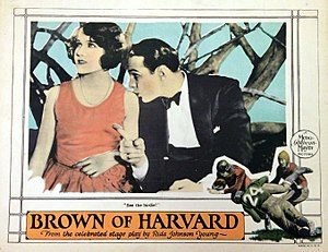 Brown of Harvard (1926 film) - Lobby card with Haines and Brian