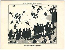 Bruckners Ankunft im Himmel, Silhouette von Otto Böhler (Quelle: Wikimedia)
