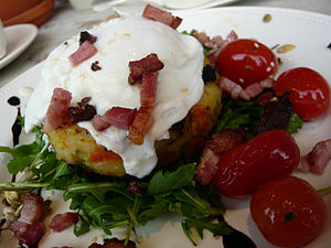 Bubble and squeak - Bubble and squeak topped with poached egg