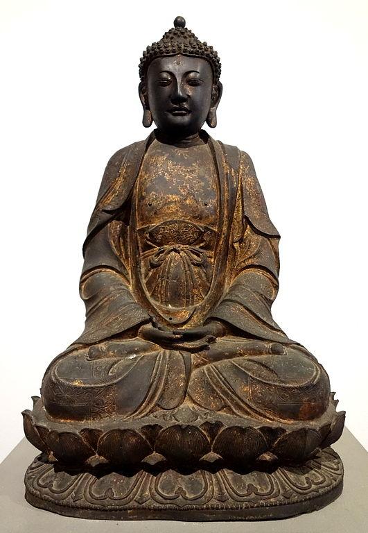 Statue de Bouddha au Musée Asiatique Edoardo Chiossone à Gênes.