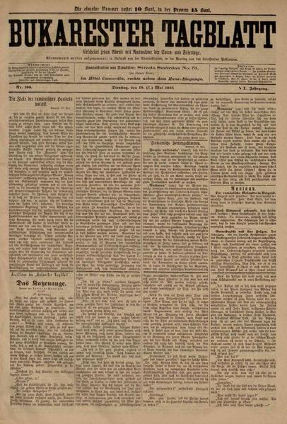 File:Bukarester Tagblatt 1885-05-19, nr. 108.pdf