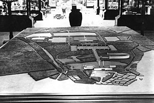 Nazi party rally grounds - Mock-up of the Rally grounds in their planned finished shape at the World Fair in Paris, 1937