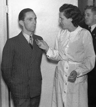 Art of the Third Reich - Joseph Goebbels with film director Leni Riefenstahl in 1937
