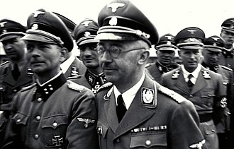 J.J. Fedorowicz Publishing - SS commander and subsequent Fedorowicz author Otto Kumm (front row, left) on tour of the Mauthausen concentration camp with Heinrich Himmler (center), June 1941.