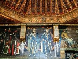 Sala de Poridad, pinturas y artesonado