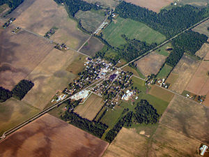 Burket, Indiana - Burket from the air
