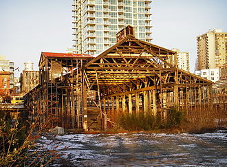 Burrard Dry Dock - The remains of Burrard Dry Dock
