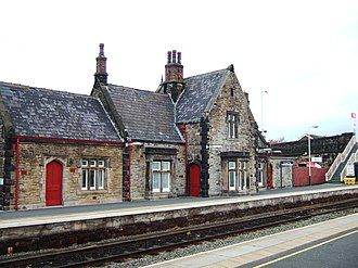 Burscough Bridge railway station - Image: Burscough Bridge railway station, Wigan platform