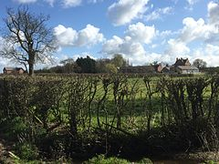Burton, Gowy from the fields to the west of the village.JPG