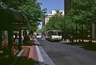 Portland Transit Mall - The original design of the Mall, from 1977 to 2007
