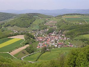 Buus - View of Buus from Farnsburg Mountain