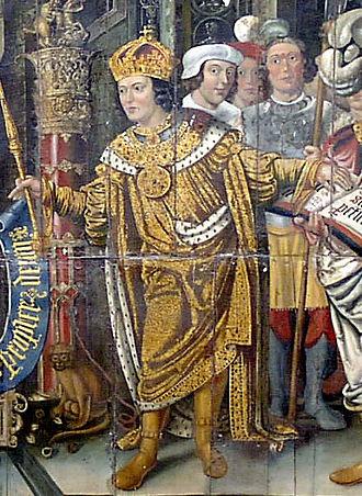 Cædwalla of Wessex - Imaginary depiction of Cædwalla by Lambert Barnard
