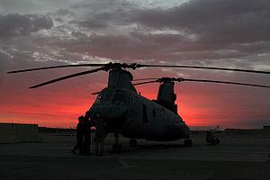 VMM-268 - HMM-268 helo on the tarmac at Al Taqaddum, Iraq