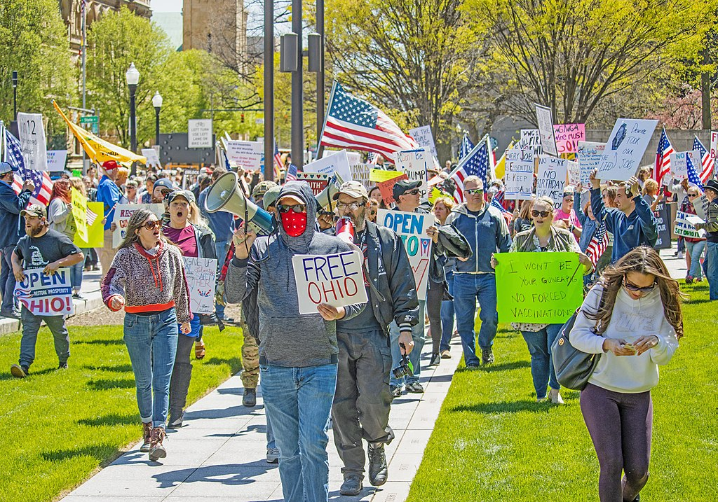 Anti-lockdown protests at the Ohio Statehouse on April 18 and 20