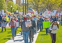 Protestujący w Ohio, 20 kwietnia 20