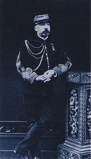 French military mission to Japan (1872–80) - Colonel Munier, second commander of the Second French Military Mission to Japan. 1874 photograph.