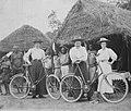 COLLECTIE TROPENMUSEUM Drie Engelse vrouwelijke zendelingen op een rondreis langs de dorpen Katanga TMnr 60031852.jpg