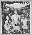 COLLECTIE TROPENMUSEUM Joan Ilen en Ant. Ch. W. met Snowey portret van de dochters van de Britse consul in Soerabaja 1937 olieverfschildering door Charles Sayers TMnr 60048621.jpg