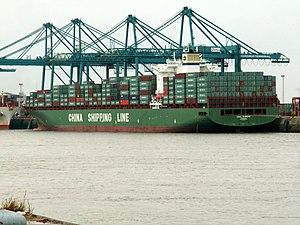 CSCL Europe IMO 9285988 27Jul05 Antw, at Port of Antwerp, Belgium 27-Jul-2005.jpg