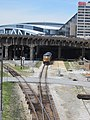 CSX Coal Train in Gulch Under CNN Deck.jpg