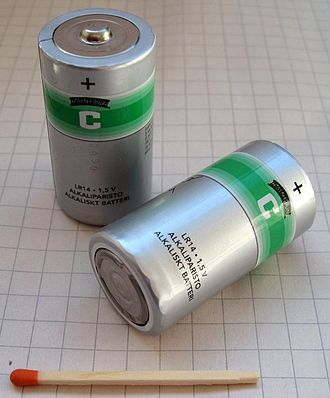 C battery - two 'C'-size batteries