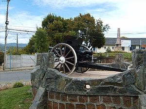 Krupp gun - A 75mm Krupp gun used during the War of the Pacific
