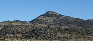 Sierra de Gúdar - The Cabezo de las Cruces peak, located at the border between Aragón and the Valencian Community.