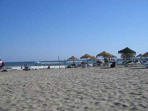 Cabopino beach Costa del Sol Spain