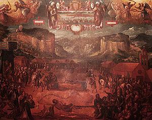 Miquel Bestard - Martyrdom of Cabrit and Bassa by Bestard, c. 1629.