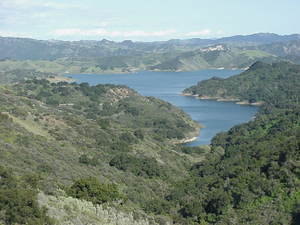 California State Route 150 - Lake Casitas as seen looking eastward from California State Route 150.