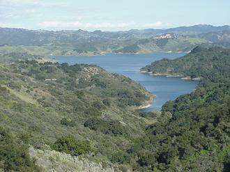 California State Route 150 - Lake Casitas as seen looking eastward from California State Route 150.