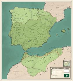Califfato di Córdoba intorno al 388 Hijri, 998 gregoriano