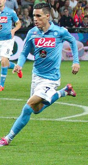 José Callejón - Callejón in action for Napoli in 2014