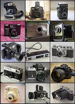 b497f44d44ecc Câmeras fotográficas de várias marcas e modelos.