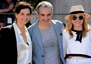 Clouds of Sils Maria - Juliette Binoche, Olivier Assayas, and Chloë Grace Moretz promoting the film at the 2014 Cannes Film Festival.
