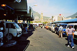 Cape Town taxi rank above train station