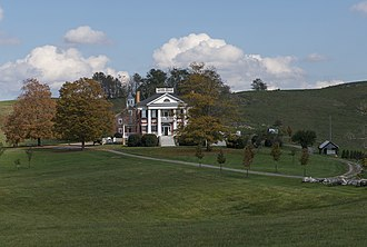 National Register of Historic Places listings in Monroe County, West Virginia - Image: Caperton House from Rte. 219