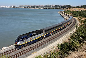 Amtrak California - An Amtrak California Capitol Corridor train, in Pinole