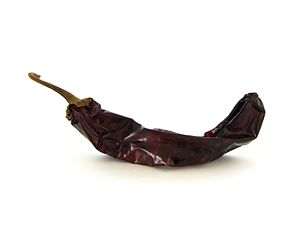 English: Dried Capsicum annuum chili pod of th...