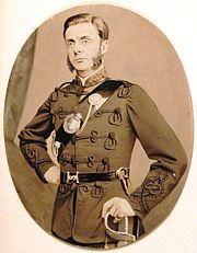 Captain Harry Gem in his Birmingham Rifle Volunteer Corps uniform in 1868