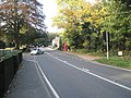 Car turning out of King Edward's School onto the A283 at Wormley - geograph.org.uk - 1546203.jpg