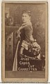 Card Number 193, Mrs. Langtry, from the Actors and Actresses series (N145-1) issued by Duke Sons & Co. to promote Cross Cut Cigarettes MET DP866175.jpg