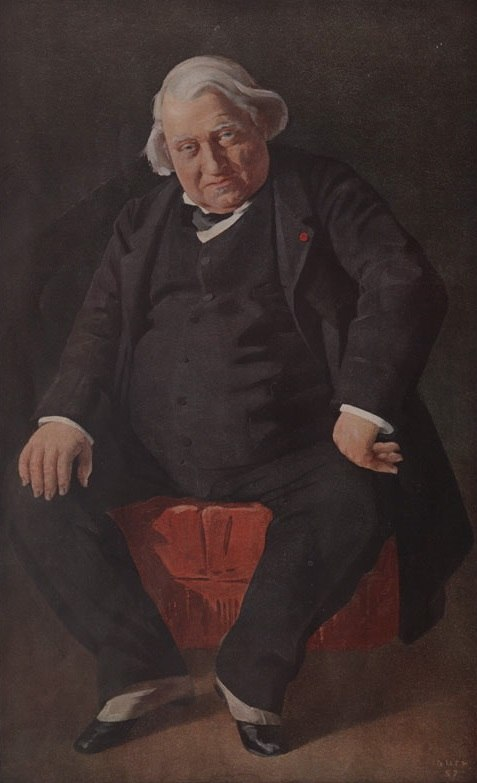 Caricature of Ernest Renan, Vanity Fair
