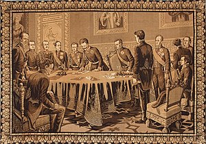 Statuto Albertino - Charles Albert signs the Statute, 4 March 1848.