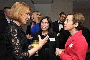 Manhattan Institute for Policy Research - Carly Fiorina, Vanessa Mendoza, and Marilyn Fedak at the Adam Smith Society national meeting in New York City on February 21, 2014.