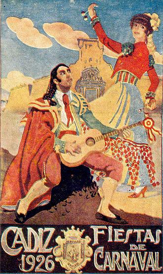 Carnival of Cádiz - Poster advertising the 1926 Carnival of Cádiz