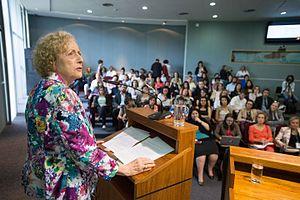 Carole Pateman - Image: Carole Pateman in Brazil 2015 03