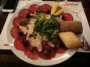 Carpaccio - Image: Carpaccio with cheese in Warsaw